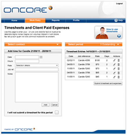 Online timesheets